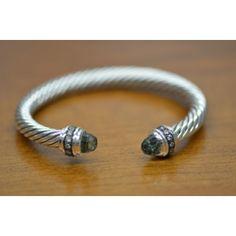 Authentic David Yurman Cable Classics 7mm Silver Bangle Bracelet