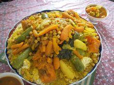 Cocina mediterránea: Cuscús de las Siete verduras, receta marroquí trad...