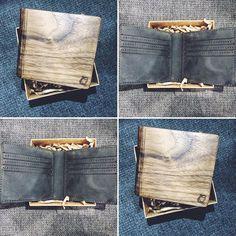 #wallet #woodenwallet #ecodesign Etsy Christmas, Christmas Gifts, American Walnut, Poppy, Etsy Seller, Monogram, Wallet, Instagram Posts, Pattern