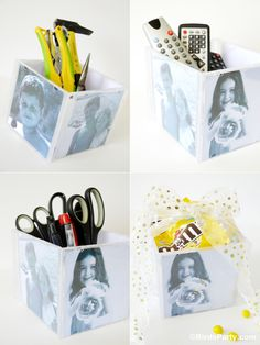 Last Minute Father's Day Gift Idea: DIY Photo Cube #FatherDay #DIY #Gift