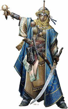 v.a. Mantel und Kopfbedeckung. Wobei die gesamte Komposition ziemlich schick ist - nur etwas martialisch. Könnte ich mir gut als Grundlage vorstellen. Mit Stoff statt Kette und in männlich. =)