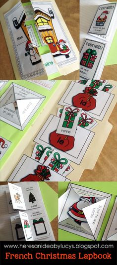 French Christmas Lapbook: interactive reading, grammar, and vocabulary practice. Not to mention how fun it is. Try something new in your French classroom!