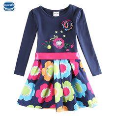Vestido de la muchacha niños navy vestido para las niñas ropa de verano estilo de la marca nova niños niñas partido de la princesa vestidos ropa de niños(China (Mainland))