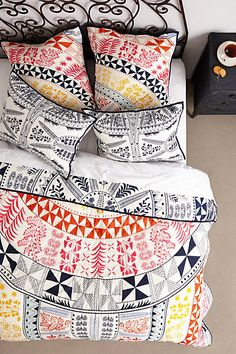 This coverlet by Mara Hoffman is reversible!
