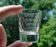 A [Case of 12] Personalized Customized Shot Glasses Wedding Gifts for Guests…