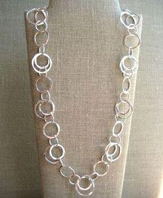 Classic Circle Necklace - Wisteria Jewelry #SilverJewelry