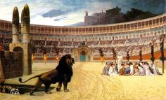This famous painting depicts a scene of Christian martyrs ready to face their death in the Circus Maximus.