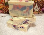 China Rain Handmade Cold Process Soap.  A truly refreshing, clean, aroma with top notes of fresh rose petals, middle notes of wisteria and cyclamen, bottom notes of sandalwood and vanilla.