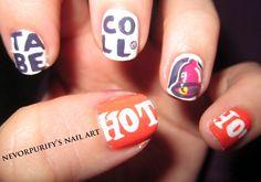 My Taco Bell Nails | Nevorpurify's Nail Art