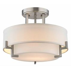 Architecture Modern Ceiling Light With White Glass Satin Nickel Contemporary Plan 3 Bedroom Lounge Chair Good Directions Weathervanes Cork Kitchen Flooring Star Fixture Backsplash Tile Designs Led Ceiling Light Fixtures, Semi Flush Ceiling Lights, Bathroom Light Fixtures, Glass Ceiling, White Ceiling, Home Lighting Design, Modern Lighting, Drum Lighting, Modern Lamps