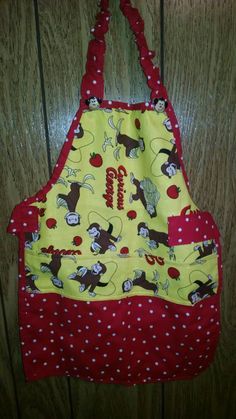 Yellow Toddler Apron Toddler Apron yellow Apron by ToptoToesSewing