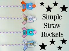 These simple straw rockets will be fab for kids to get stuck in making and then plenty of fun seeing how far they go. Plus a FREE Rocket template!