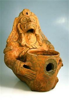 "Toltec Ceremonial Plumbate Vessel Origin: Soconusco, Guatemala Circa: 1000 AD to 1200 AD Dimensions: 9.25"" (23.5cm) high Collection: Pre Columbian Style: Toltec Medium: Terracotta"
