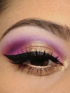 Pink and gold #eyes #eye #makeup #bright #dramatic