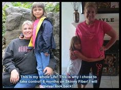 This is Torri she shares : I was 202 lbs in Jan of 2013. I was miserable.I had depression,back pain,starting with higher blood pressure and had severe female issues.I am now down 30 lbs and from a size 16 to a 11/12! I am not crash dieting and have more energy than I ever have. I sleep at night which makes me feel better all around. I am off all anxiety meds! I was skeptical of Skinny Fiber but I am a believer now! 6 months on Skinny Fiber!! http://juliecole.sbc90daychallenge.com/