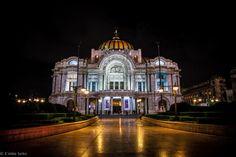 Palacio de Bellas artes.  Palace of Fine Arts in Mexico City.  I saw the Ballet Folklorico de Mexico here and it was amazing!
