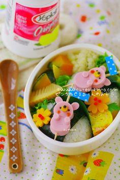 Pink Bears Bento