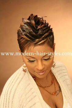 Short Black Hair Pictures and Styling Options for Relaxed Women Short Black Hairstyles Black hair options Pictures Relaxed Short styling WOMEN Cute Hairstyles For Short Hair, Short Hair Cuts, Curly Hair Styles, Natural Hair Styles, Trendy Hair, Haircut Short, Black Hair With Highlights, Hair Highlights, Sassy Hair