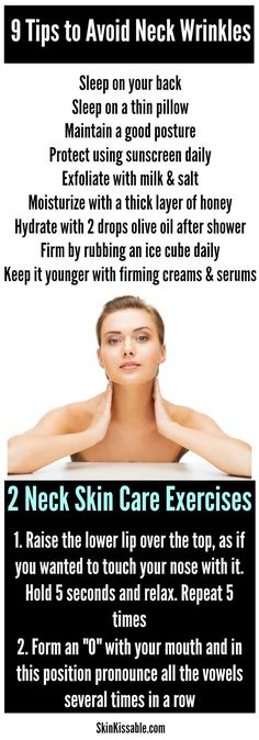 How to get rid of neck wrinkles with THESE tips, best treatments and natural homemade neck skin care remedies.
