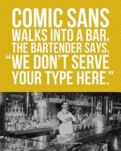 Comic Sans Joke Art Print
