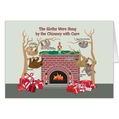 Holiday Sloths Greeting Card