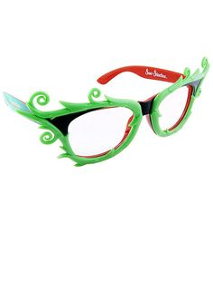 Poison Ivy Glasses - Super Hero and Villain Costumes - Cartoon Characters Heroes And Villains Costumes, Villain Costumes, Disney Halloween, Halloween Costumes, Poison Ivy Costumes, Superhero Party, Sunglasses, Costume Ideas, Cosplay Ideas