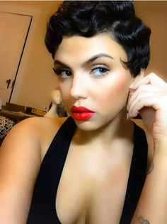 Pin Curls Short Hair