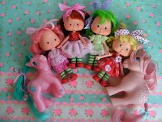Vintage Strwaberry Shortcake Dolls and My Little by KittyKatDance, $15.00