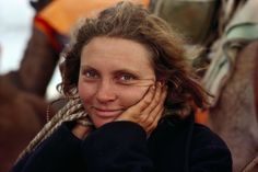 Robyn Davidson photographed in the outback for the original 1977 National Geographic assignment.