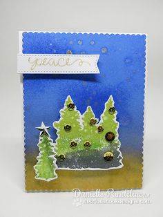 Peaceful Tree card by Danielle Pandeline Happy December, Cardmaking, Stamp, Peace, Nook, Handmade Cards, Design, Inspiration, Craft Cards