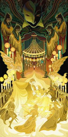 """This project based opera, musical, ballet, I want to show the charm of the stage. They are Opera Phantom、Madama Butterfly、Magic Flute、Turandot and the """"Nutcracker"""" ballet. Turandot Opera, Illustrations, Illustration Art, Opera Ghost, Music Of The Night, Phantom Of The Opera, Art Inspo, Art Reference, Fantasy Art"""