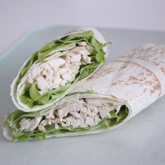 This Chicken Caesar Wrap is just one of the many simple salads that you can toss together and throw in a wrap so you can munch away while doing the other thousand things you need to do during your lunch break.