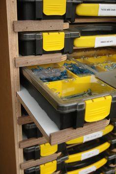 Mobile Modular Small Parts Rack - Inexpensive Adam Savage Style sortimo tool box/parts rack - by AdrianM @ LumberJocks.com ~ woodworking community