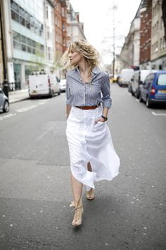 The perfect summer maxi skirt even when pregnant
