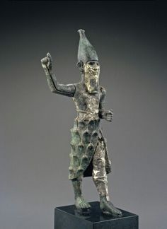 Bronze, silver, and electrum statue of a mountain god. Hittite. Mid 2nd millennium B.C. | Phoenix Ancient Art Gallery