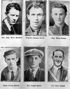 """On Sept 1922 during the Irish Civil War, an Irish Republican Army column were cornered in Sligo. Six of the IRA soldiers fled up the Benbulbin's slopes - all were killed and are known as the """"Noble Six"""" Roisin Dubh, Julian Edleman, Ireland 1916, Northern Ireland Troubles, Irish Independence, Irish Republican Army, Easter Rising, Scotland History, Michael Collins"""