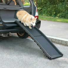 Description What Our Top Dog Says About The Guardian Gear® Vehicle Pet Ramp: The Guardian Gear® Vehicle Pet Ramp is great for dogs that need help getting in and out of your car. Because it is sloped,