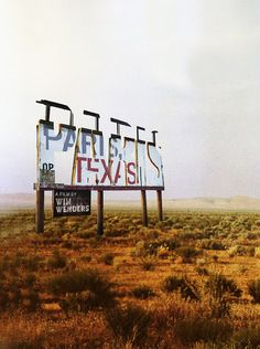 Wim Wenders, Paris, Texas.