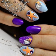 The latest summer nail art trends can be found in our photo gallery. They should ...  #found #gallery #latest #photo #should #summer #trends Nail Art Designs, Short Nail Designs, Nails Design, Great Nails, Cool Nail Art, Aqua Nails, Latest Nail Art, Beach Nails, Trendy Nails