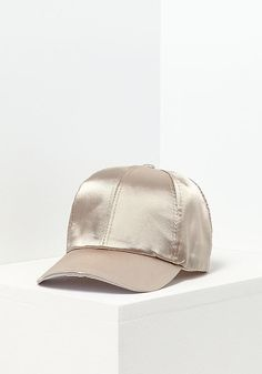 Gold Silky Baseball Cap - Street Chic - Trends