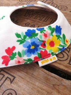 Baby Bib made from vintage floral fabric by lilandpippi on Etsy