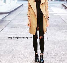 Shop Divergenceclothing.com  #streetstyle #streetfashion #tumblrgirl #fashion #fallfashion #trendy #edgy #chic #divergenceclothing #fallfashion #cuteoutfits #jacket #brownjacket #tanjacket #kyliejenner