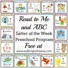 ABC-readtome Curriculum for 3 and 4 yr olds learning alphabet. Includes suggested reading lists and fun activities for each letter of the alphabet.