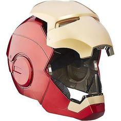 Iron Man Electronic Helmet Marvel Legends Mask Led Lightup Eyes Sound Effects Mega Man Helmet, Iron Man Helmet, Iron Man Armor, Arma Nerf, Iron Man Cosplay, Boba Fett Helmet, Iron Man Action Figures, Iron Men 1, Hq Marvel