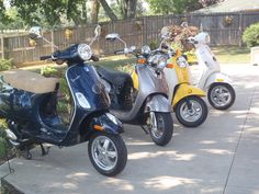4 Sisters had a great summer on their 4 scooters