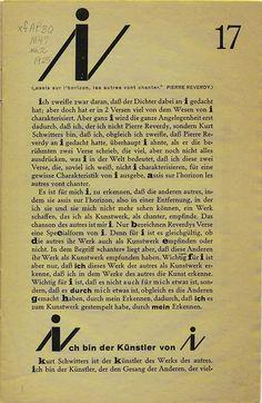 Dada Periodicals / Kurt Schwitters / Darío Ruiz