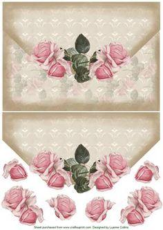 Rose Envy Topper on Craftsuprint - Add To Basket! Paper Art, Paper Crafts, 3d Sheets, Rose Pictures, 3d Cards, 3d Projects, Scrapbook Cards, Envelopes, Ephemera