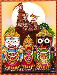 Jagannath, Balaram, Subhadra - Hindu Posters (Reprint on Paper - Unframed) Hare Krishna, Krishna Art, Shiva Art, Lord Vishnu, Lord Shiva, Rath Yatra, Lord Jagannath, Lord Krishna Wallpapers, Jai Shree Krishna