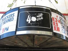 This is the 40 Watt Club, where I work. The 40 Watt Club is world renowned and known as one of the best small rock venues in America!