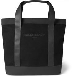 Balenciaga - Canvas and Leather Tote Bag | MR PORTER